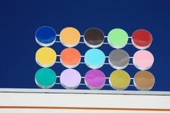 Puntos coloreados Imagenes de archivo