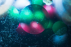 Puntos coloreados brillantes y descensos Fotos de archivo libres de regalías