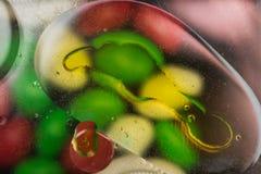 Puntos coloreados brillantes y descensos Imagen de archivo libre de regalías