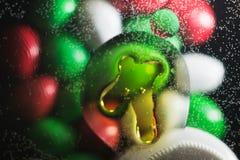 Puntos coloreados brillantes y descensos Imagen de archivo