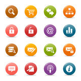 Puntos coloreados - iconos clásicos del Web Imagen de archivo libre de regalías