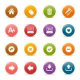 Puntos coloreados - iconos clásicos del Web Fotografía de archivo