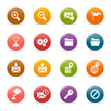 Puntos coloreados - iconos clásicos del Web Imagenes de archivo