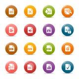 Puntos coloreados - iconos del formato de archivo Imágenes de archivo libres de regalías