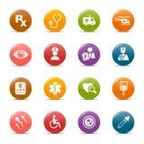 Puntos coloreados - iconos médicos Fotografía de archivo
