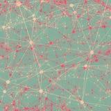 Puntos conectados con las líneas fondo abstracto Fotografía de archivo