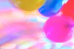 Puntos culminantes y aire Baloons del disco Fotografía de archivo