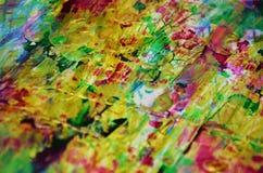 Puntos de oro en colores pastel juguetones borrosos, formas, tonalidades en colores pastel abstractas Foto de archivo