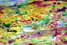 Puntos de oro en colores pastel juguetones fangosos borrosos, formas, tonalidades en colores pastel abstractas Imágenes de archivo libres de regalías