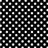 puntos de polca blancos grandes de +EPS en BG negra Foto de archivo