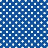 puntos de polca blancos grandes de +EPS en fondo azul Fotografía de archivo libre de regalías