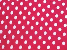 Puntos de polca blancos y rosados Fotografía de archivo libre de regalías