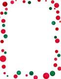 Puntos de polca de la Navidad Imagenes de archivo