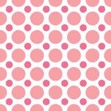 Puntos de polca rosados Fotos de archivo libres de regalías