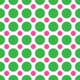 Puntos de polca verdes y rosados Fotografía de archivo