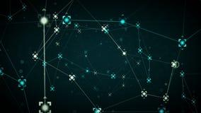 Puntos de referencias de la red azules ilustración del vector