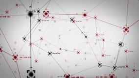 Puntos de referencias de la red blancos stock de ilustración