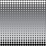 Puntos de semitono blancos negros Imagenes de archivo