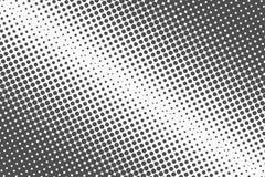 Puntos de semitono El fondo monocromático de la textura del vector para preprensa, DTP, tebeos, cartel Plantilla del estilo del a stock de ilustración