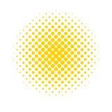 Puntos de semitono Fondo coloreado, abstracto en estilo del arte pop stock de ilustración