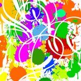Puntos del color. Curvas blancas. Fotos de archivo libres de regalías