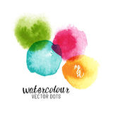 Puntos del vector del Watercolour Foto de archivo libre de regalías
