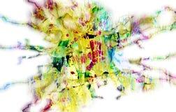 Puntos en colores pastel juguetones borrosos, formas, tonalidades en colores pastel abstractas Foto de archivo
