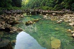 Puntos escénicos importantes de la provincia de Guizhou de China siete Fotos de archivo libres de regalías