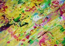 Puntos juguetones fangosos borrosos del verde del rosa del oro, formas, tonalidades en colores pastel abstractas Fotografía de archivo libre de regalías