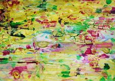 Puntos juguetones fangosos borrosos, formas, tonalidades en colores pastel abstractas Fotografía de archivo libre de regalías