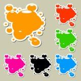 Manchas blancas /negras multicoloras. Sistema Fotografía de archivo