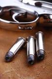 Puntos negros con el arma Imágenes de archivo libres de regalías
