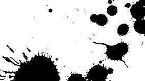 Puntos negros de la tinta en blanco ilustración del vector