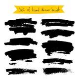 Puntos negros de la tinta en un fondo blanco ilustración del vector