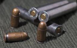 Puntos negros del rifle y de la pistola Fotografía de archivo libre de regalías