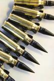 Puntos negros en correa de la munición Fotografía de archivo libre de regalías