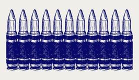Puntos negros. Estilo del Doodle Fotos de archivo libres de regalías