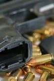 Puntos negros y vertical del arma Imágenes de archivo libres de regalías