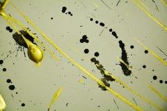 Puntos oscuros grises negros de la pintura del oro, puntos, fondo elegante Imagen de archivo libre de regalías