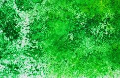 Puntos románticos brillantes verdes que pintan el fondo de la acuarela, fondo de pintura abstracto de la acuarela fotos de archivo