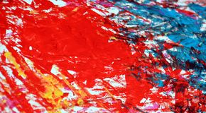 Puntos románticos grises azules amarillos rojos que pintan el fondo de la acuarela, fondo de pintura abstracto de la acuarela foto de archivo