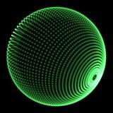 Puntos verdes de la esfera libre illustration
