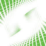 Puntos verdes de la onda Fotos de archivo libres de regalías