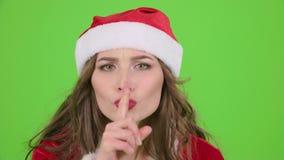 Puntos virginales de la nieve su finger un poco más reservado Pantalla verde Cierre para arriba Cámara lenta almacen de video