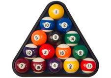 Puntos y bolas de piscina de las rayas. Fotografía de archivo