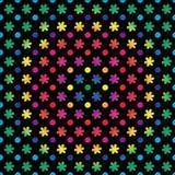 Puntos y flores del arco iris Imagen de archivo libre de regalías