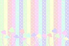 Puntos y flores en colores pastel stock de ilustración