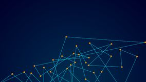 Puntos y líneas de conexión abstractos Fondo de la ciencia de la tecnología de la conexión Fotos de archivo libres de regalías