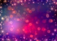 Puntos y luces rosados stock de ilustración