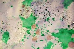 Puntos y sombras chispeantes rosados blancos verdes borrosos Fondo ceroso del invierno Fotografía de archivo libre de regalías